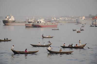 Taxi crossing Buriganga river