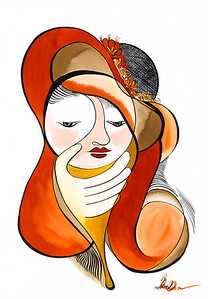 lady // 18x24 / watercolor original $400.00 / gicllee` $100.00