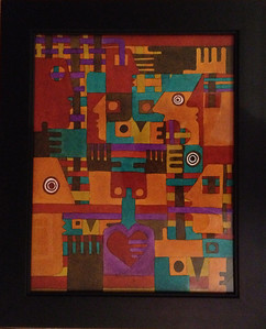 """faces of love / 11""""X14"""" / water color original $500.00/ giclee` $100.00"""