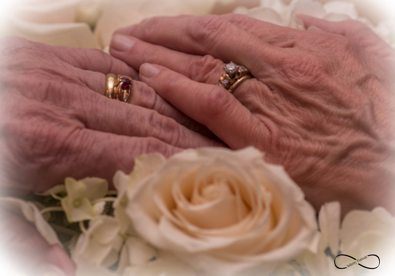 "Mom & Dad 50th Wedding Anniversary ""Hands of Aging Love"""
