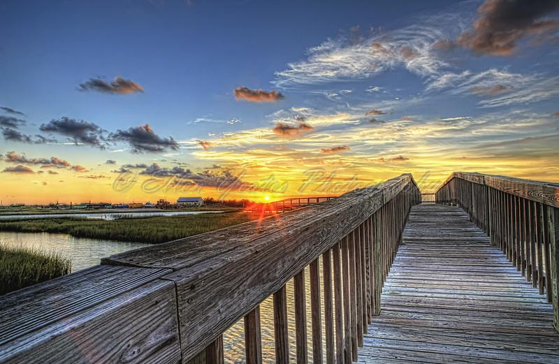 Walk to Sun....   ~ Crabbing Pier Sunset ~