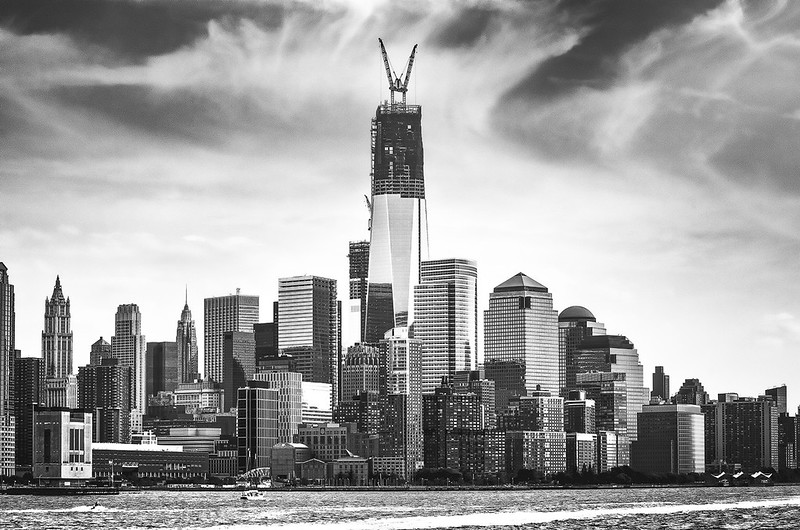 New York City Skyline from Weehawken Waterfront, New Jersey