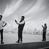Men in Action (taking selfie, posing, etc.) at Marine Lines, Mumbai