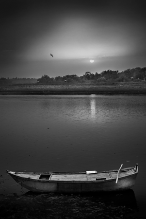 Boat on Yamuna River - Behind Taj Mahal, Agra