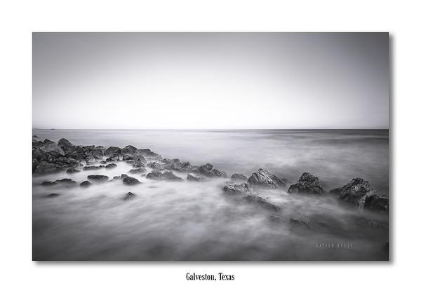 Milky Waves at Galveston Island, Texas (Long Exposure)
