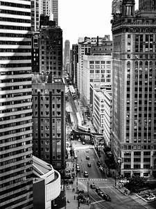 """Chicago """"L"""" at Wabash Ave and Lake Street"""