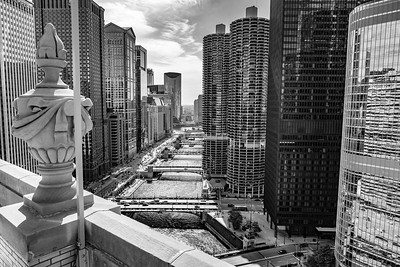 Rooftop view of the Chicago River