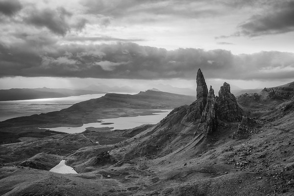 Old man of Storr (B&W)
