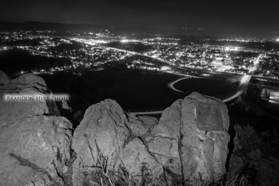Chimney Rocks Night