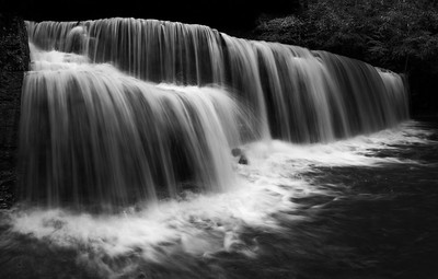 Hidden Falls in Black & White