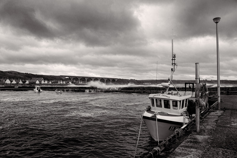 Cullen Harbour, Moray, Scotland.