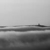 Jubilee Tower, Darwen, Lancashire poking through the low clouds.