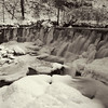 A very frozen Hoghton Weir, Hoghton Bottoms, Lancashire.