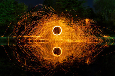 Wirewool Spinning at the Lilly Pond, Witton Park, Blackburn