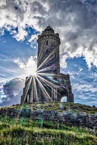 Sunburst at Darwen Tower