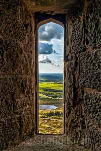 Looking through one of the open windows at Darwen (Jubliee) Tower
