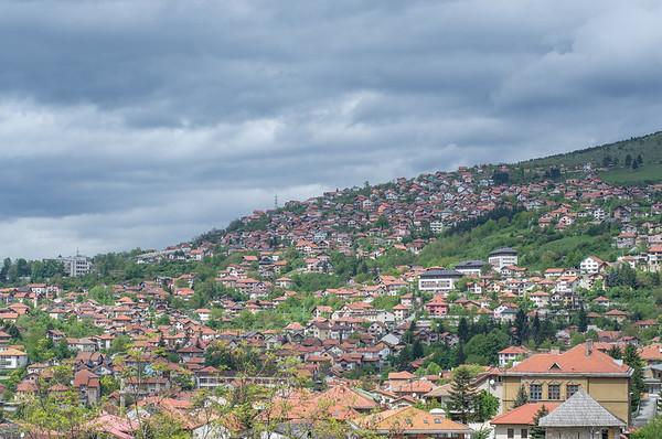 Sarajevo cityscape from Vratnik hill