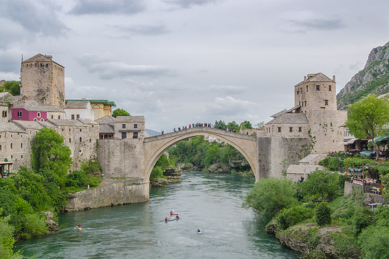 The reconstructed 16th century Stari Most (old bridge), Mostar