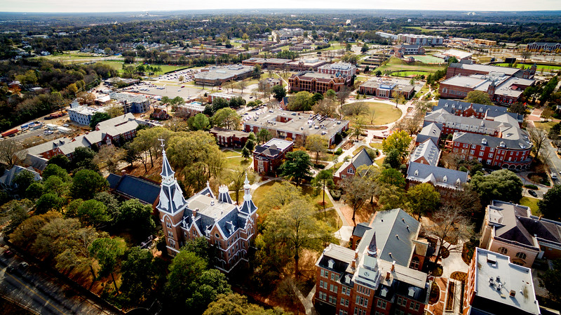 aerial photo of Macon campus
