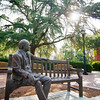 Jesse Mercer statue with afternoon sun