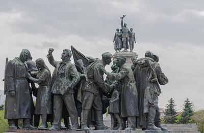 Monument to the Soviet Army in central Sofia