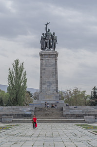The main pedestal of the monument to the Soviet army, Sofia