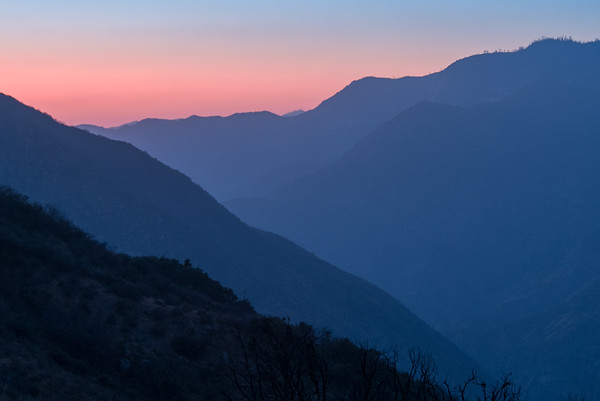 Alpen Glow over Kings Canyon