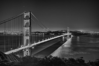 Golden Gate Second Night B&W