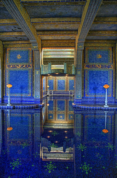 Blue Pool Reflection - Hearst Castle Indoor Pool