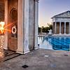 Neptune Pool during Sunset