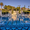 Neptune pool in Hearst Castle  during Sunset