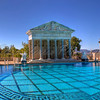 Panorama of Neptune pool in Hearst Castle