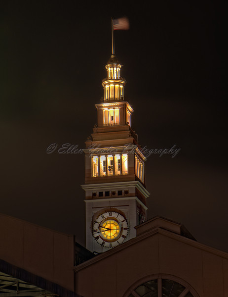 Ferry Building Tower at Night