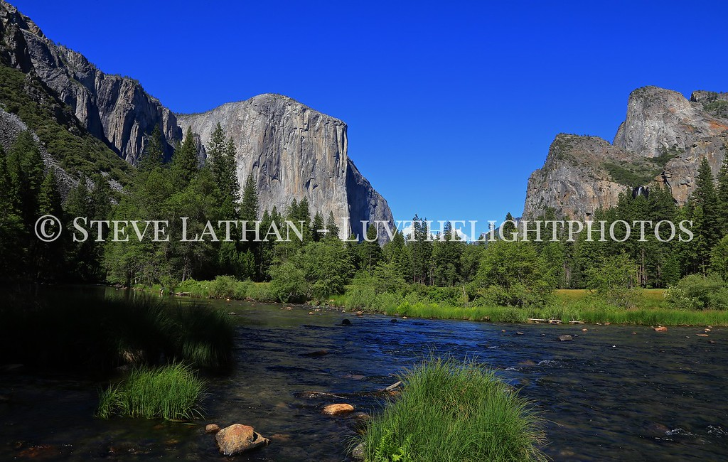 The Yosemite Valley from the Merced River.