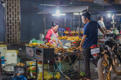 Food carts, Phnom Penh