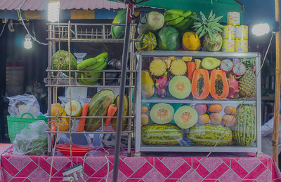 Fruit juice stall, Phnom Penh