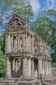 The two story pavilion in Preah Khan, Angkor, Cambodia
