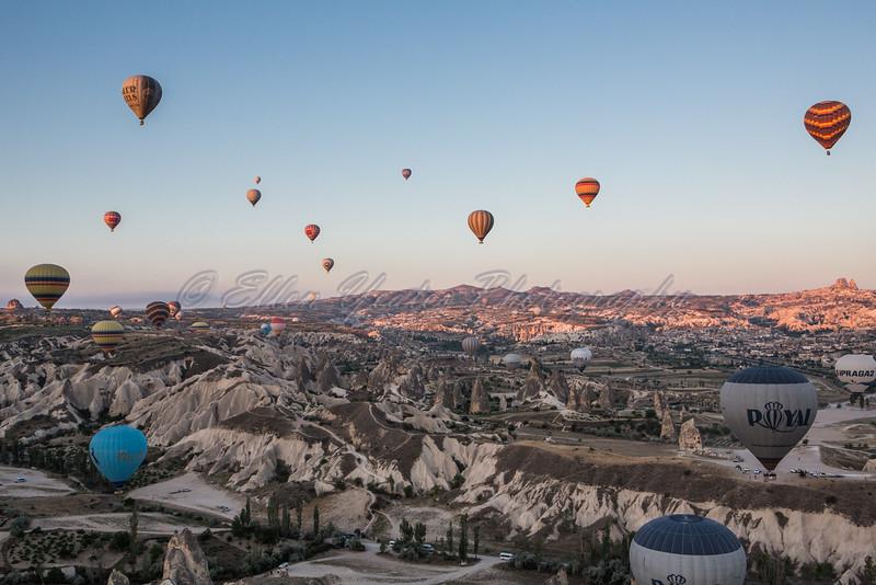 Balloon over Cappadocia Valleys