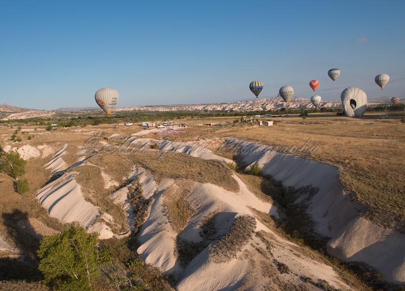 Balloons above Cappadocia