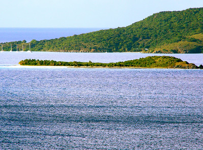 My favortie island Green Cay photographed from a distance.  Green Cay, British Virgin Islands