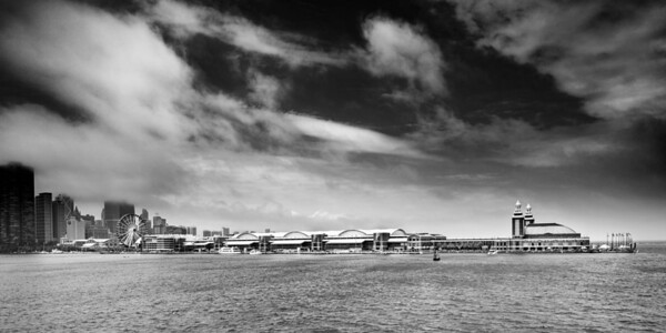 Dramatic Chicago Navy Pier