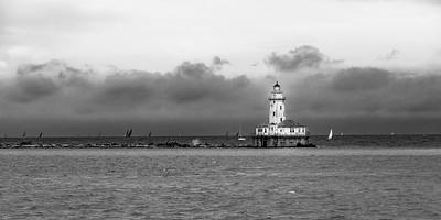 Chicago Harbor Light Panoramic