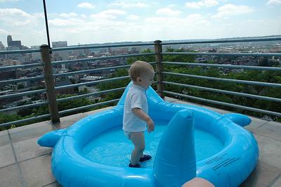 Jake's 1st Swimming Pool- 6/2007