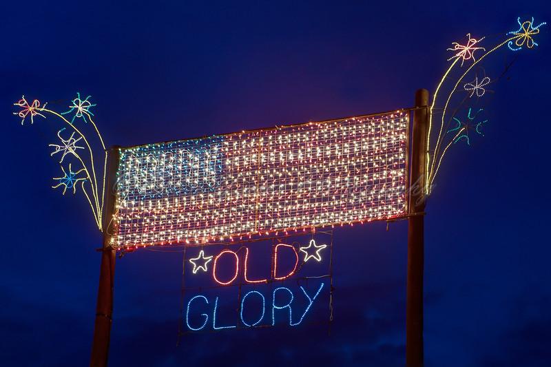 Old Glory Christmas Lights
