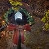 Christmas Wreath Light Pole