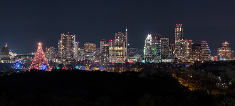 Trail of Lights and Austin Skyline ~ 2015