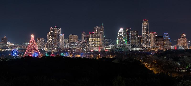 Trail of Lights and Austin Skyline ~ 2015