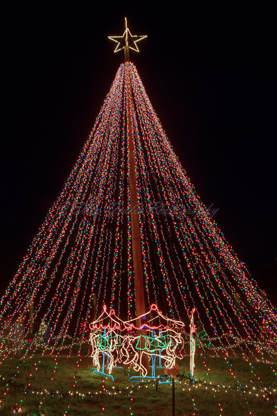 Christmas lights in Marble Falls, Texas
