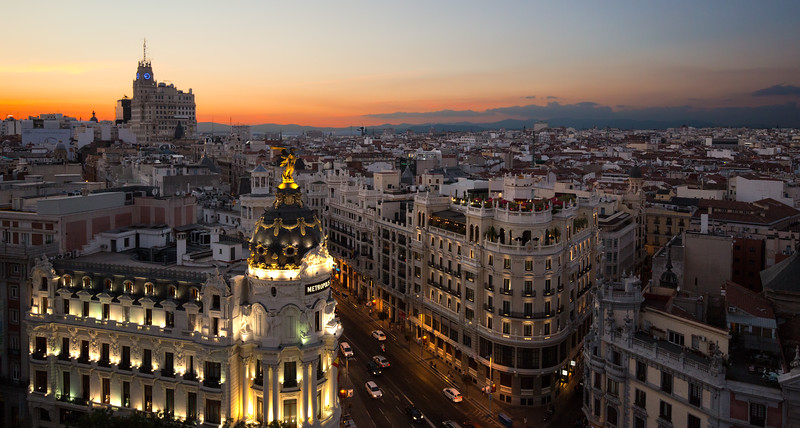 Sunset Over Madrid