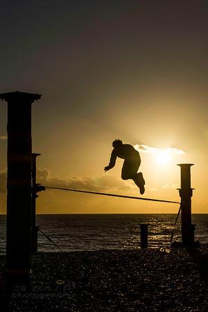 West Pier Brighton - acrobatics